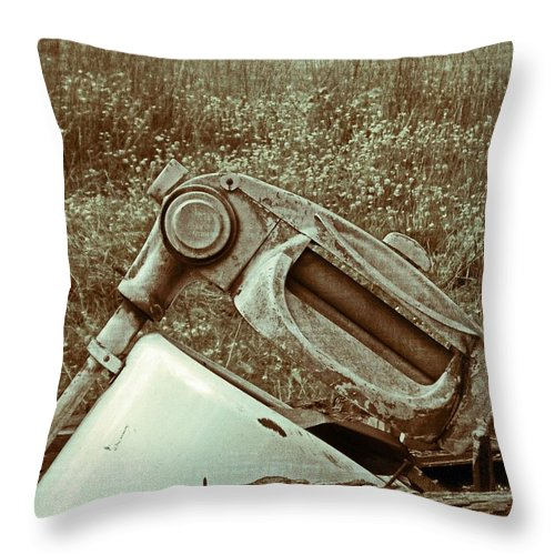 Antique Throw Pillow featuring the photograph Washing Day Vintage by Susan Leggett