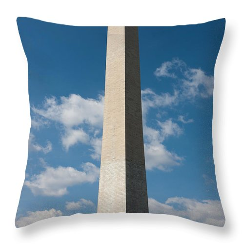 Clarence Holmes Throw Pillow featuring the photograph Washington Monument I by Clarence Holmes