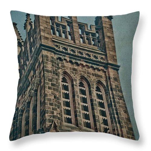 Church Throw Pillow featuring the photograph Washington Street by Trish Tritz