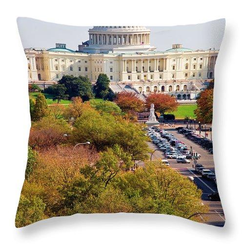 Throw Pillow featuring the photograph Washington2 by Burney Lieberman