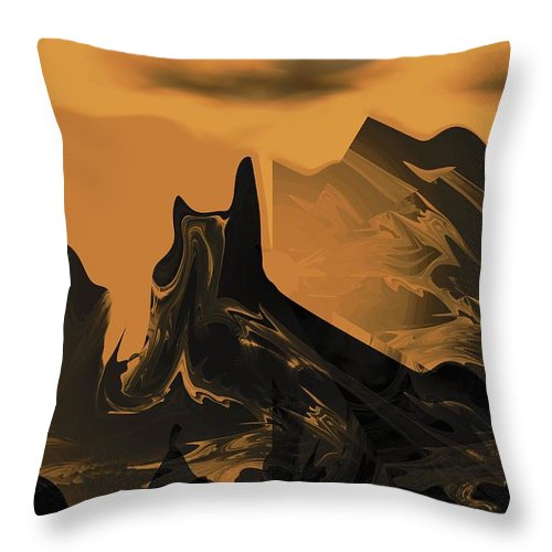 Wastelands Throw Pillow featuring the digital art Wastelands by Maria Urso