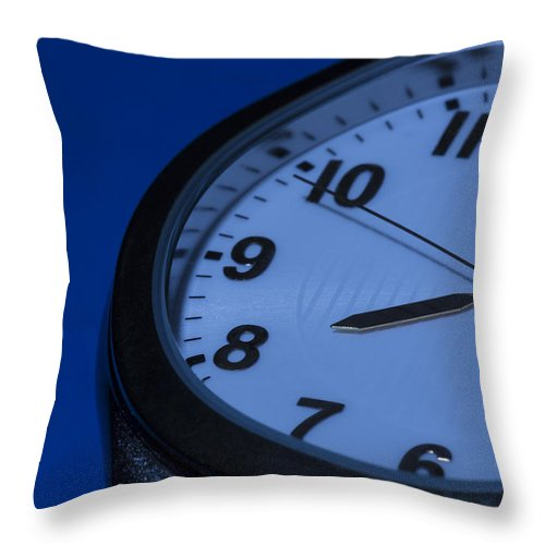 Time Throw Pillow featuring the photograph Watch Blue 2 by John Brueske