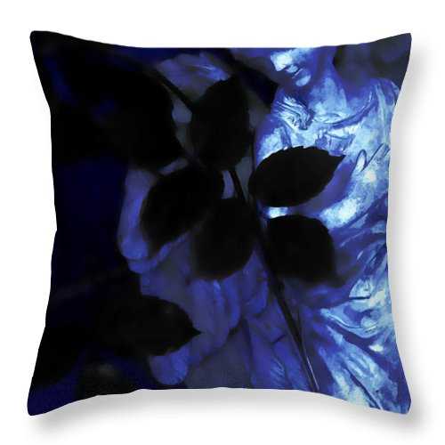 Angel Throw Pillow featuring the photograph Watching Over Me In Darkness by Angelina Vick
