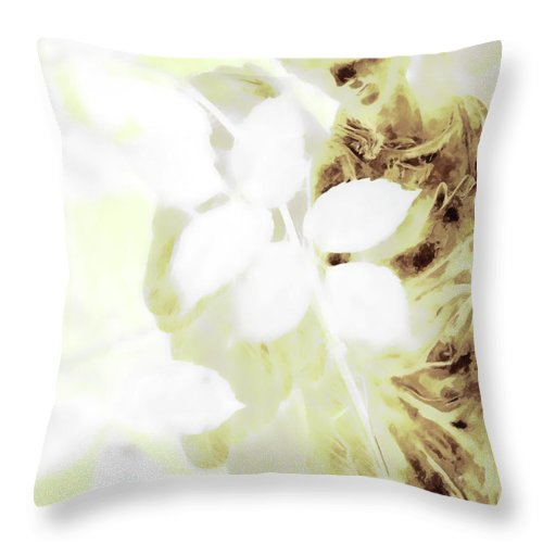 Angel Throw Pillow featuring the photograph Watching Over Me In Light by Angelina Vick
