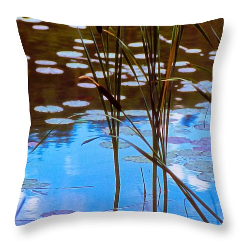 Plants Throw Pillow featuring the photograph Water Plants by Michele Mule'