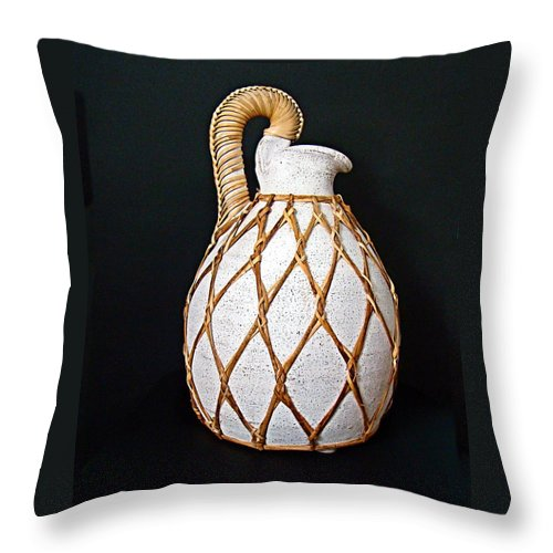Urn Throw Pillow featuring the photograph Water Urn by Nick Kloepping