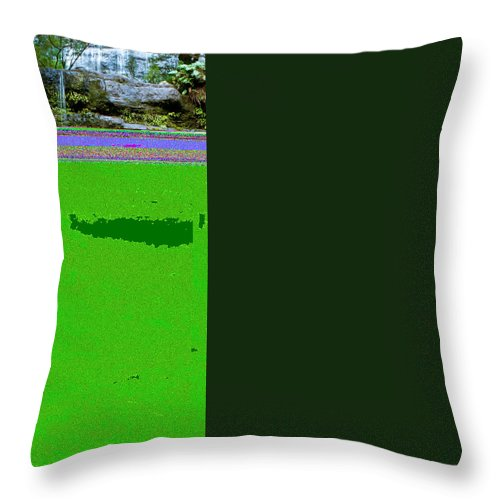 Adventure Throw Pillow featuring the photograph Waterfall In Deep Forest by U Schade