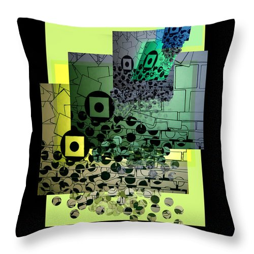Shape Layering Throw Pillow featuring the digital art Waterfall by Markus Blaus