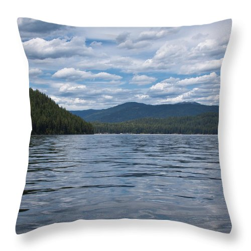 Elkins Resort Boathouse Throw Pillow featuring the photograph Wave Shadows by David Patterson