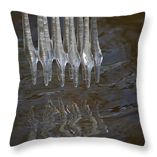 Ice Throw Pillow featuring the photograph Waves by Joseph Yarbrough