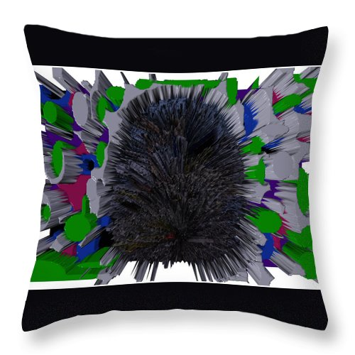 Sky Art Throw Pillow featuring the digital art Wax In My Ear by Robert Margetts