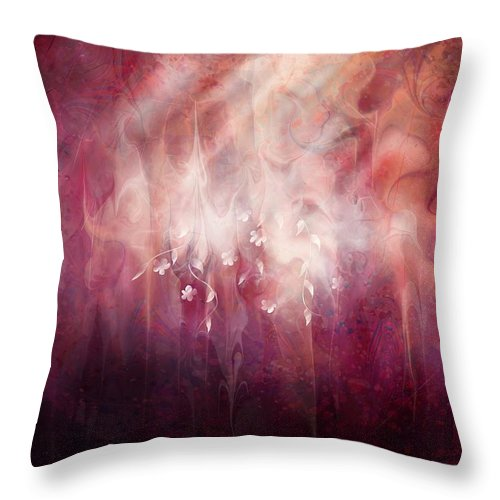 Landscape Throw Pillow featuring the digital art Weight Of Glory by Rachel Christine Nowicki