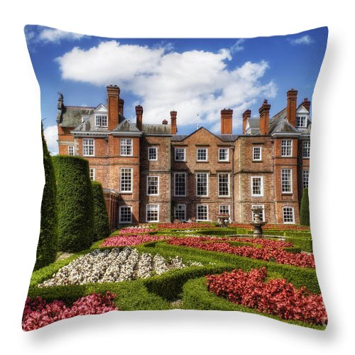Gardens Throw Pillow featuring the photograph Welsh Gardens by Ian Mitchell