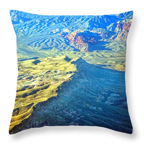 Red Rocks Throw Pillow featuring the photograph West Of Las Vegas Planet Earth by James BO Insogna