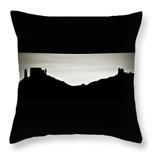Geology Throw Pillow featuring the photograph Western Silhouette by Marilyn Hunt