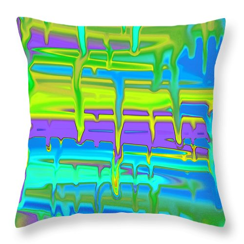 Paint Throw Pillow featuring the photograph Wet Drippy Paint by Debbie Portwood