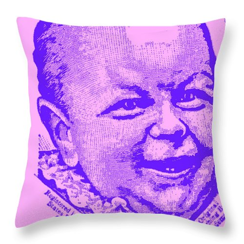 Laughing Baby Throw Pillow featuring the photograph what is so funny big ears V by Diane montana Jansson