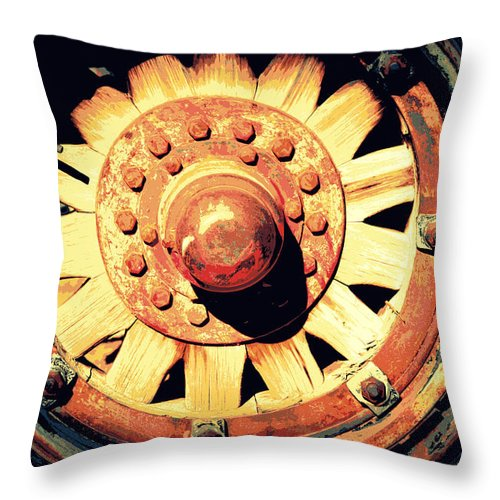Old Tire Throw Pillow featuring the photograph Wheel You Please by Diane montana Jansson