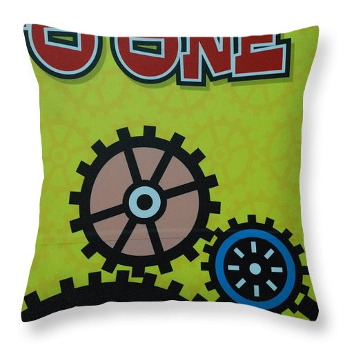 Signs Throw Pillow featuring the photograph Wheels by Michael L Gentile
