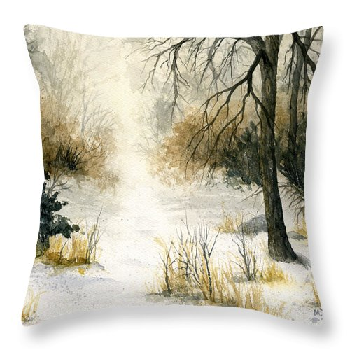 Minnesota Throw Pillow featuring the painting Where To Go by Mary Tuomi