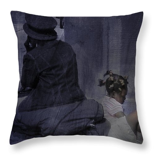 Toronto Throw Pillow featuring the photograph While I Wait by Robin Webster