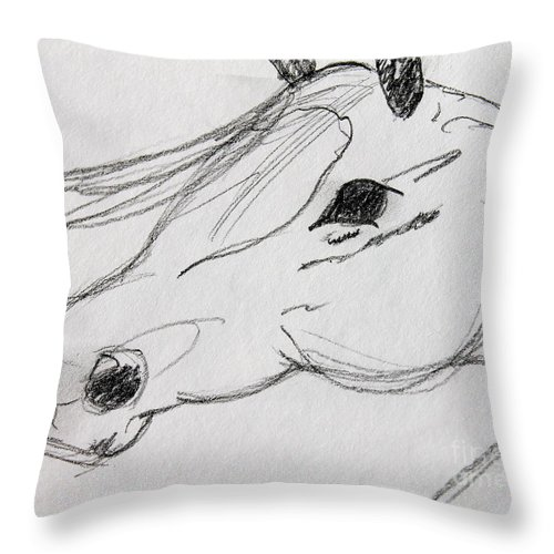 Pencil Sketch Throw Pillow featuring the photograph Whispy by Pamela Walrath