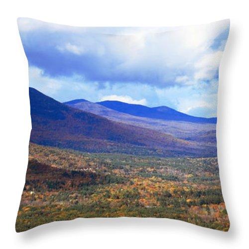 White Mountains Throw Pillow featuring the photograph White Mountains Vista by Roupen Baker