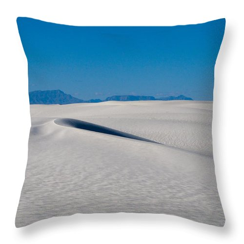 New Mexico Throw Pillow featuring the photograph White Sands 1 by Sean Wray
