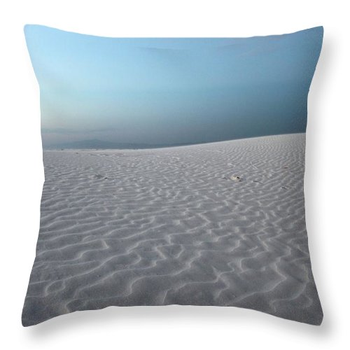 White Sands Throw Pillow featuring the photograph White Sands by Caroline Lomeli