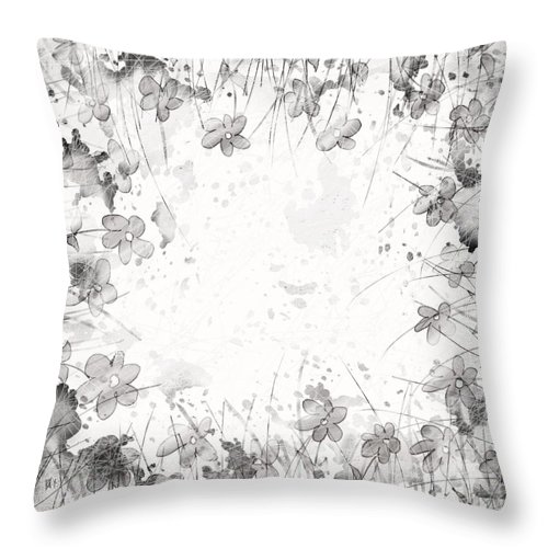 Abstract Throw Pillow featuring the digital art White Space by Rachel Christine Nowicki