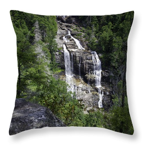 Waterfall Throw Pillow featuring the photograph Whitewater Falls by Rob Travis