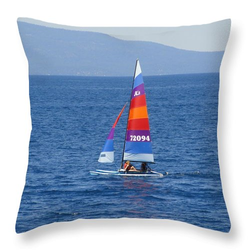 Sail Throw Pillow featuring the photograph Wide Sail by Shannon Grissom