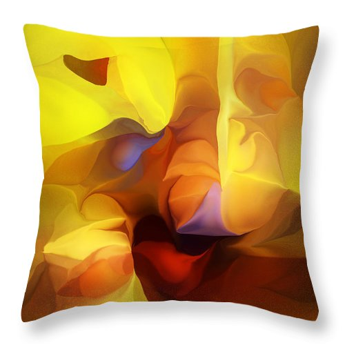 Fine Art Throw Pillow featuring the digital art Wild About Saffron by David Lane