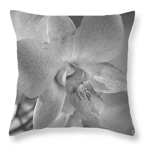 Bronstein Throw Pillow featuring the photograph Wild Maui Orchid by Sandra Bronstein