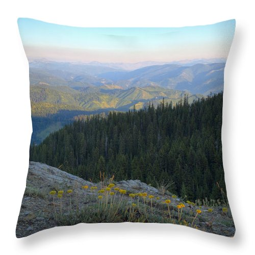 Idaho Throw Pillow featuring the photograph Wilderness View by Idaho Scenic Images Linda Lantzy