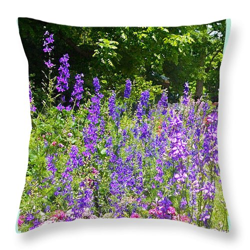 Nature Throw Pillow featuring the photograph Wildflowers by Paulette B Wright