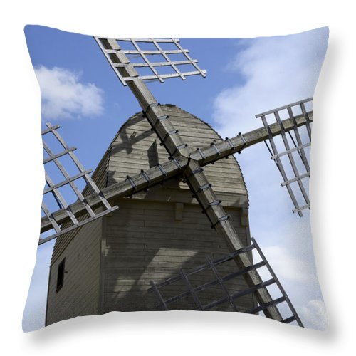 Windmill Throw Pillow featuring the photograph Windmill 10 by Bob Christopher