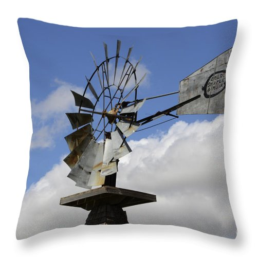 Windmill Throw Pillow featuring the photograph Windmill 2 by Bob Christopher