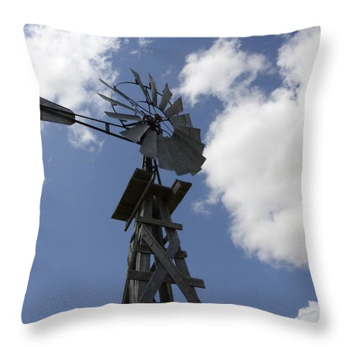 Windmill Throw Pillow featuring the photograph Windmill 4 by Bob Christopher