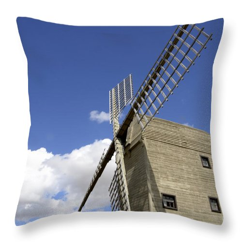 Windmill Throw Pillow featuring the photograph Windmill 7 by Bob Christopher