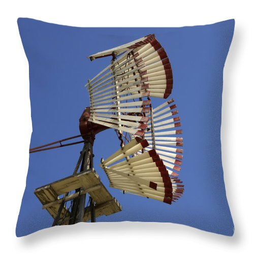 Windmill Throw Pillow featuring the photograph Windmill 8 by Bob Christopher