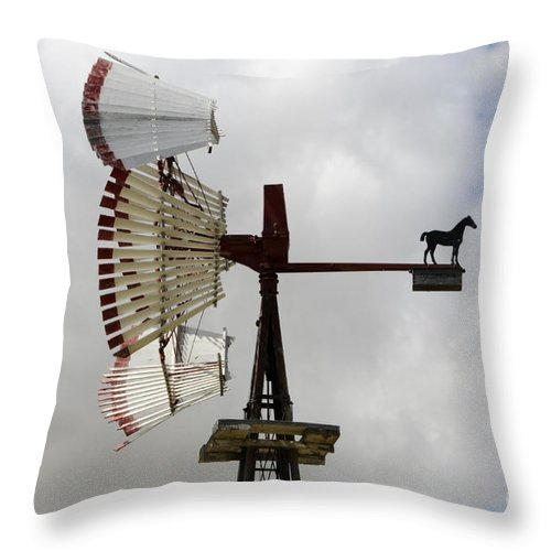 Windmill Throw Pillow featuring the photograph Windmill 9 by Bob Christopher