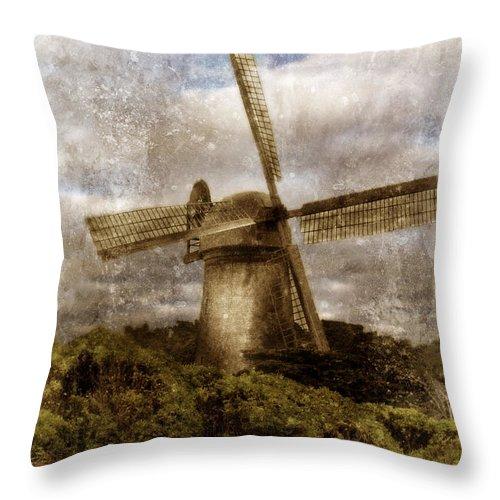 Windmill Throw Pillow featuring the photograph Windmill by Jill Battaglia
