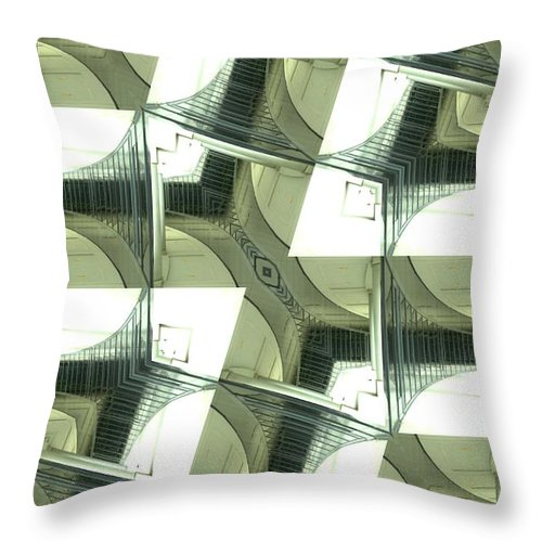 Window Throw Pillow featuring the photograph Window Mathematical by Donna Brown