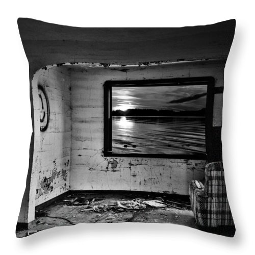 Street Photography Throw Pillow featuring the photograph Window Of Wish by The Artist Project
