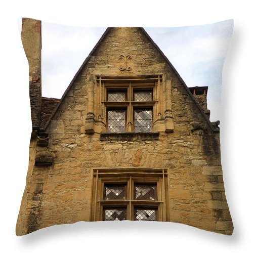 Windows Throw Pillow featuring the photograph Windows Of Sarlat by Lainie Wrightson