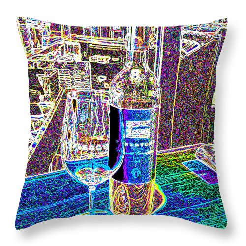 Wine Throw Pillow featuring the photograph Wine by Jerome Stumphauzer