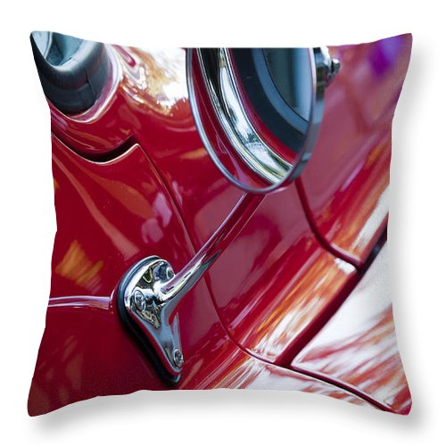 Wing Throw Pillow featuring the photograph Wing Mirror by Chris Dutton