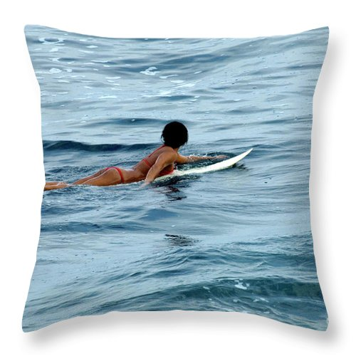 Winter Throw Pillow featuring the photograph Winter In Hawaii 2 by Bob Christopher