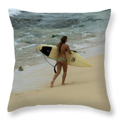 Winter Throw Pillow featuring the photograph Winter In Hawaii 4 by Bob Christopher